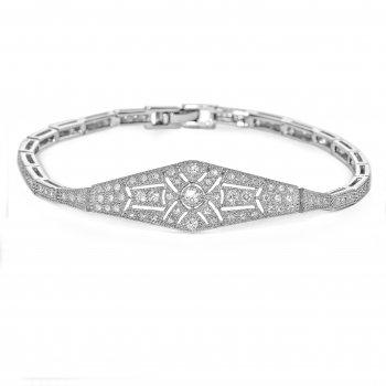 V Jewellery Deco Streamline Silver Bracelet