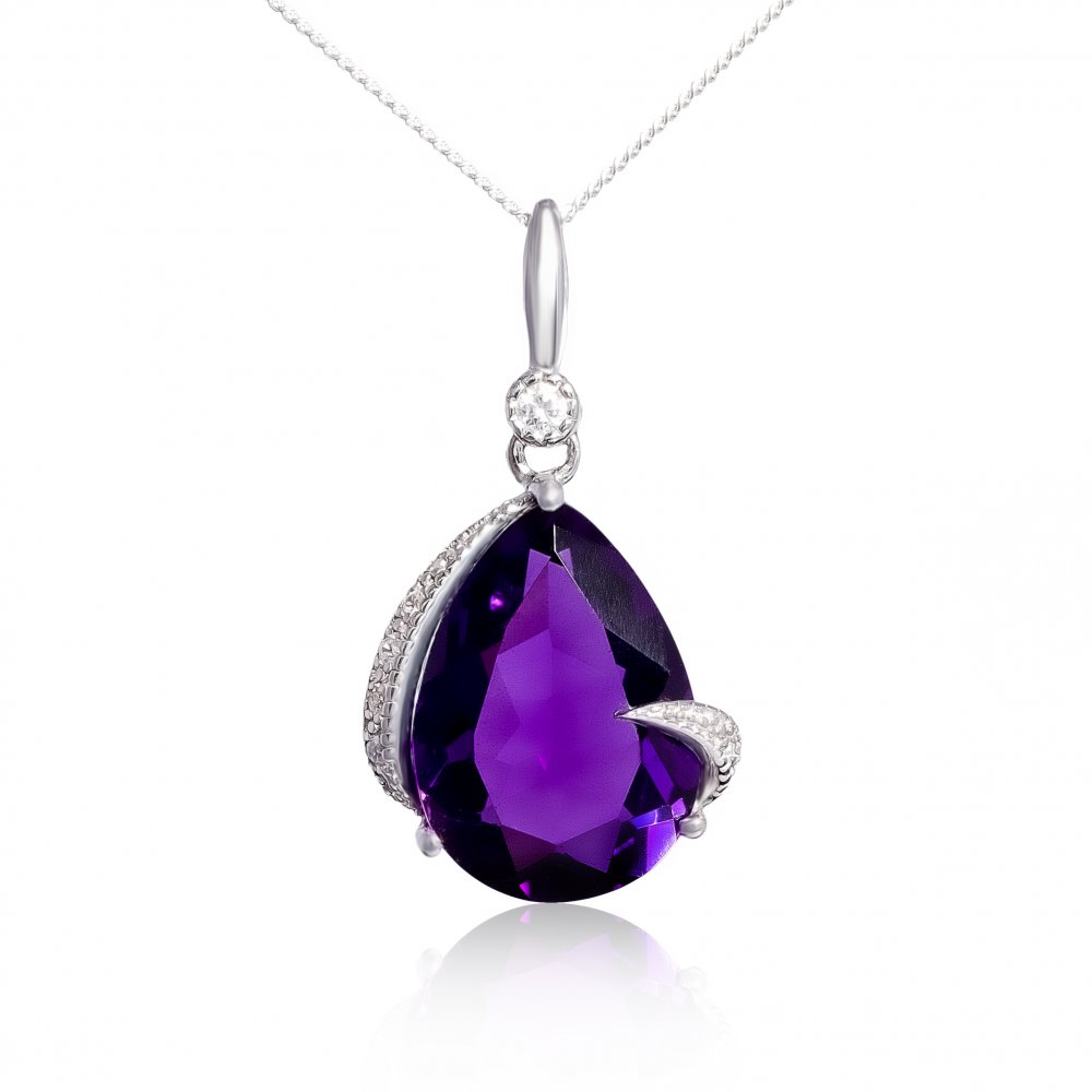 V jewellery mythos claw amethyst silver pendant v jewellery from v jewellery mythos claw amethyst silver pendant aloadofball Image collections
