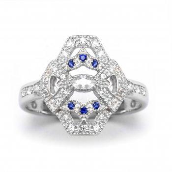 V Jewellery Mythos Evil Eye Silver Ring