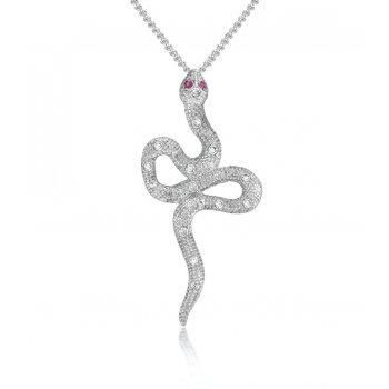 V Jewellery Mythos Serpent Silver Pendant