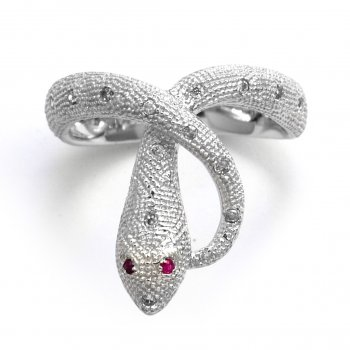 V Jewellery Mythos Serpent Silver Ring