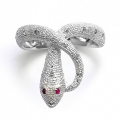 Mythos Serpent Silver Ring