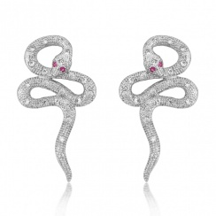 Mythos Serpent Silver Stud Earrings
