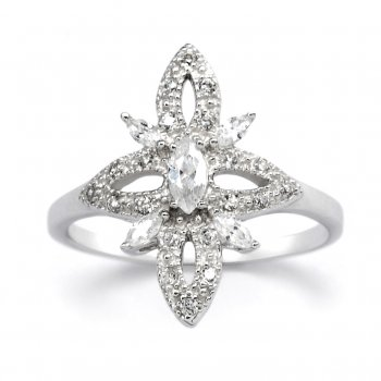 V Jewellery Romance Blossom Silver Ring