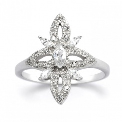 Romance Blossom Silver Ring