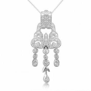 V Jewellery Romance Gatsby Silver Pendant