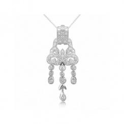 Romance Gatsby Silver Pendant