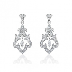Romance Rai Silver Drop Earrings