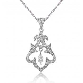 V Jewellery Romance Rai Silver Pendant