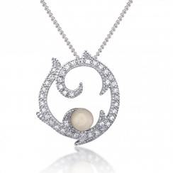 Romance Rose Quartz Silver Pendant