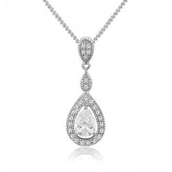 V Jewellery Romance Teardrop Silver Pendant