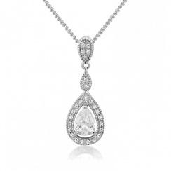 Romance Teardrop Silver Pendant