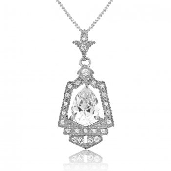 V Jewellery Royal Crest Silver Pendant