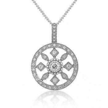 V Jewellery Royal Round Silver Pendant