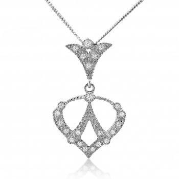 V Jewellery Royal Spade Silver Pendant