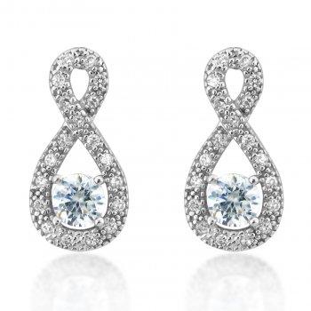 V Jewellery Simplicity Eternal Silver Earrings